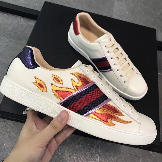 Gucci Fire Fashion Shoes, Luxury