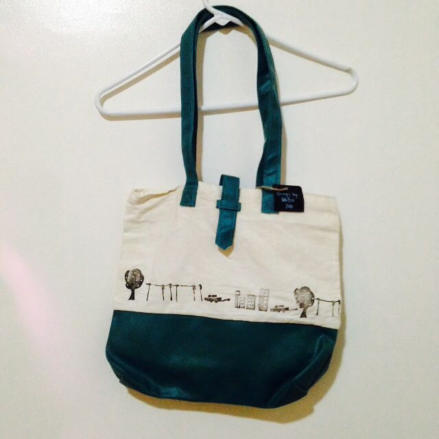 Hand-stamped Canvas Tote Bag