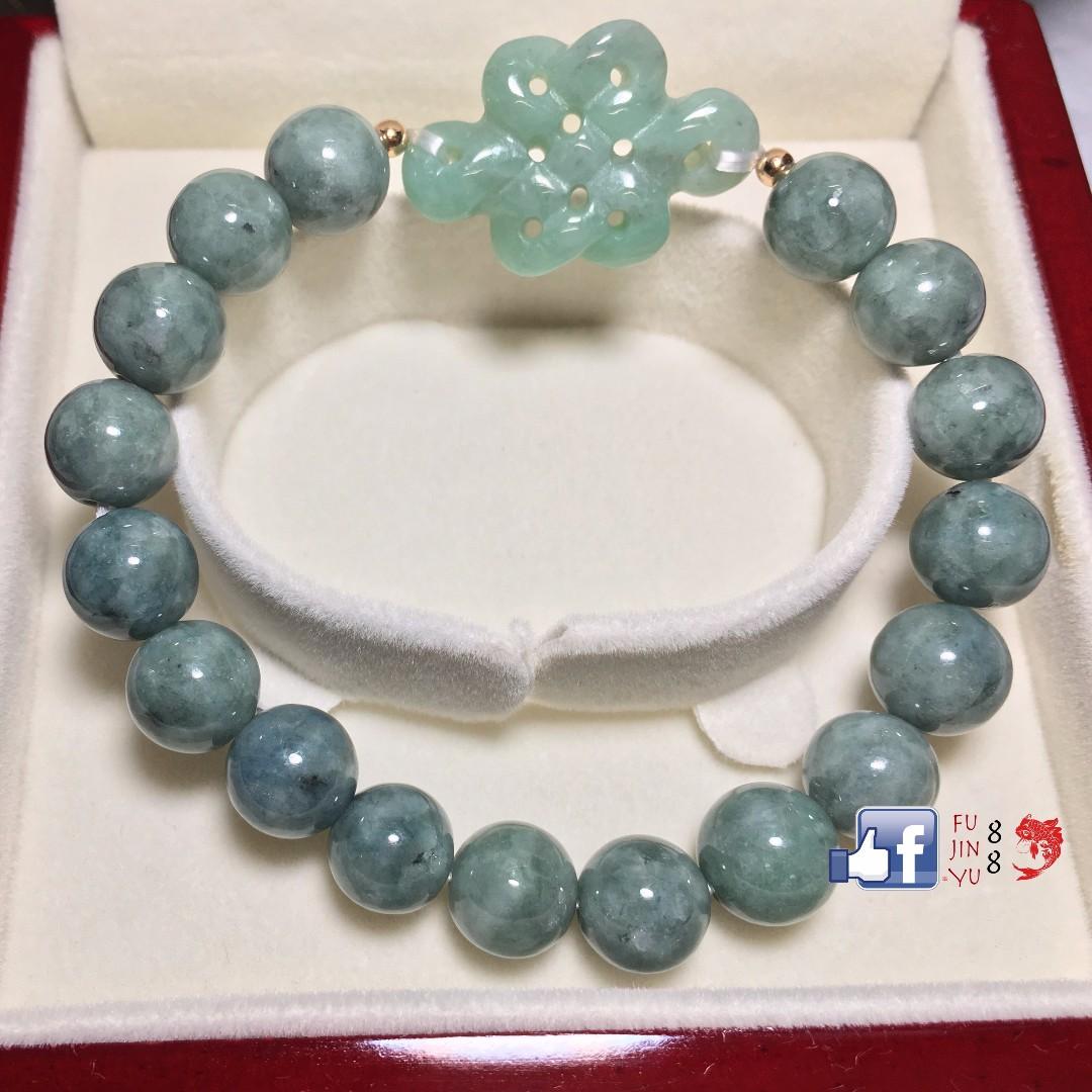 High Grade Jade Mystic Knot Fortune Bracelet