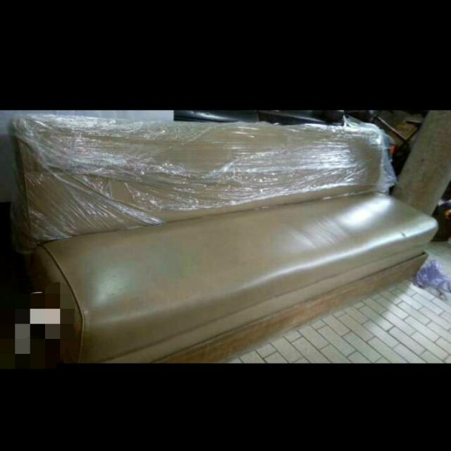 Huge Sturdy Leather Sofa
