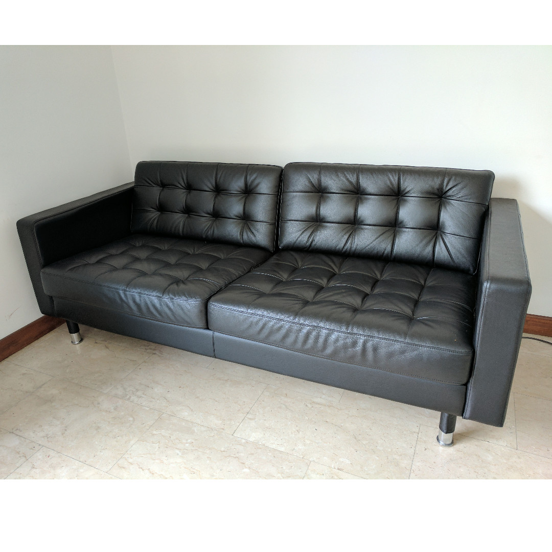 Tremendous Ikea Landskrona Leather Sofa Furniture Sofas On Carousell Creativecarmelina Interior Chair Design Creativecarmelinacom