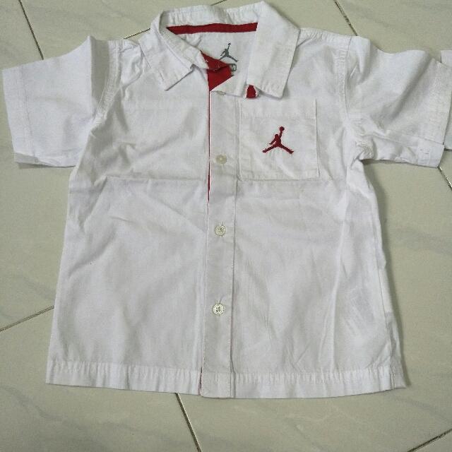 Jordan Jumpman Dress Shirt Formal Birthday 18M 24M 2T Year Month