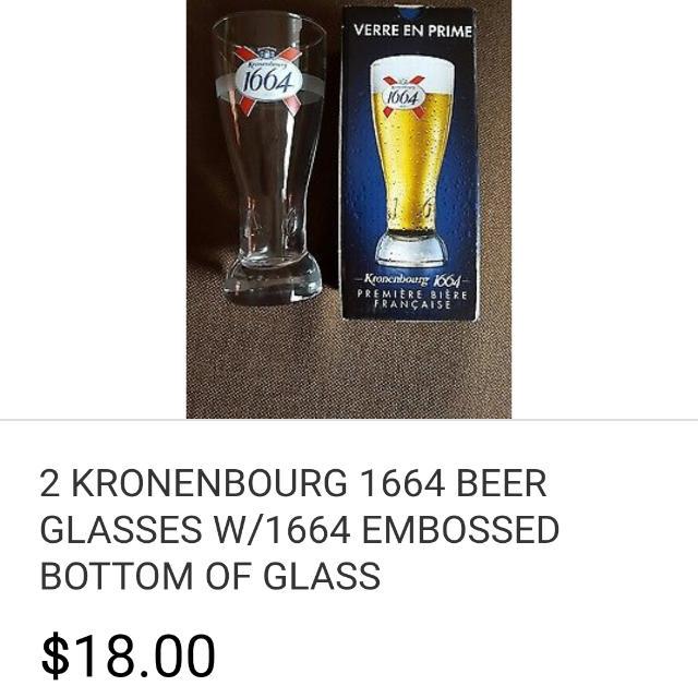 Kronenburg blanc glasses