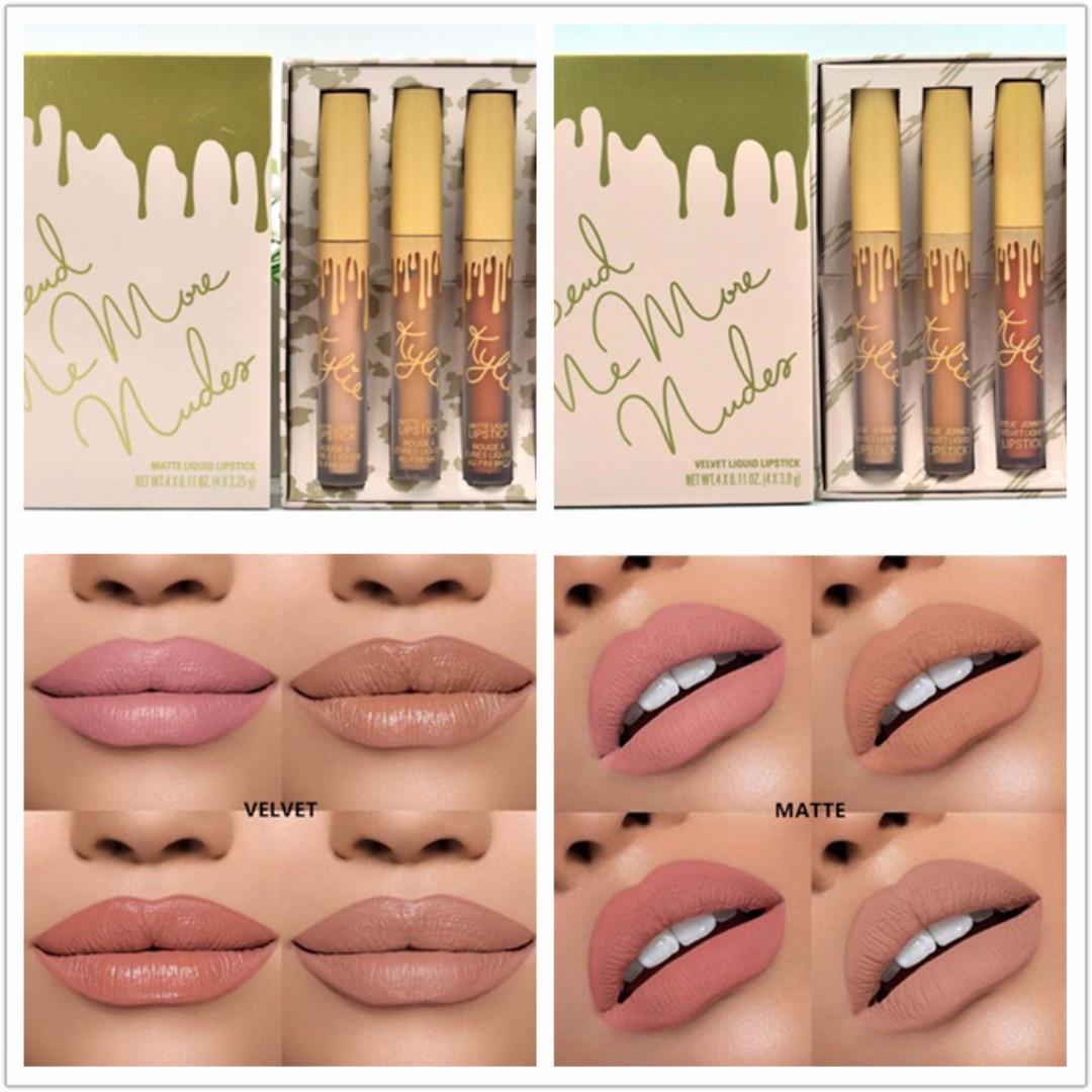 Kylie Mattevelvet 4in1 Liquid Lipstick Health Beauty Makeup On Lipstik Carousell