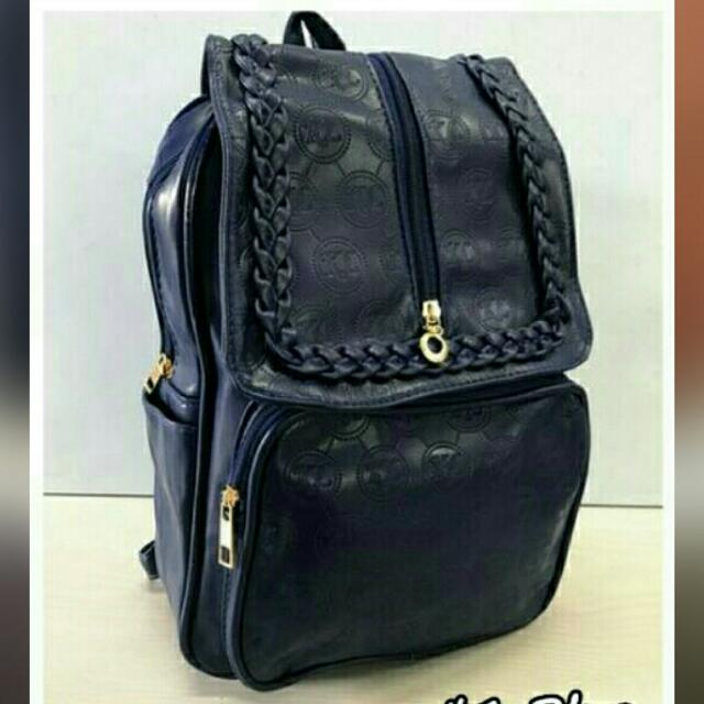 Leather Backpack Brand New (blue)