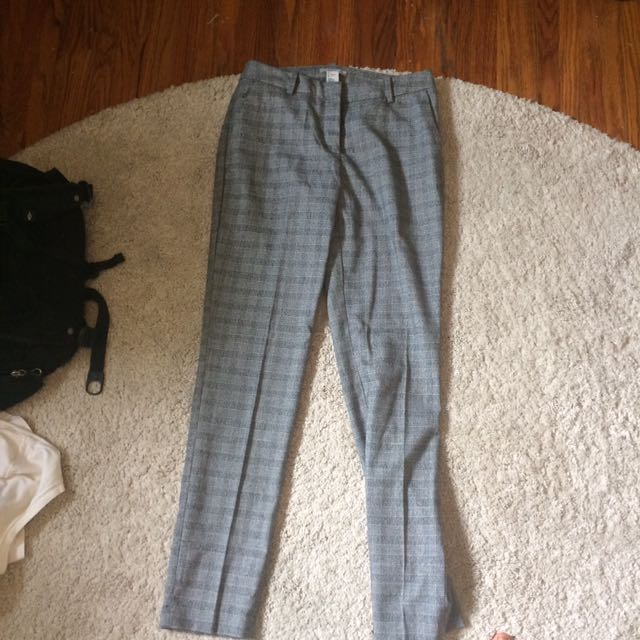 Light Grey Patterned Dress Pant