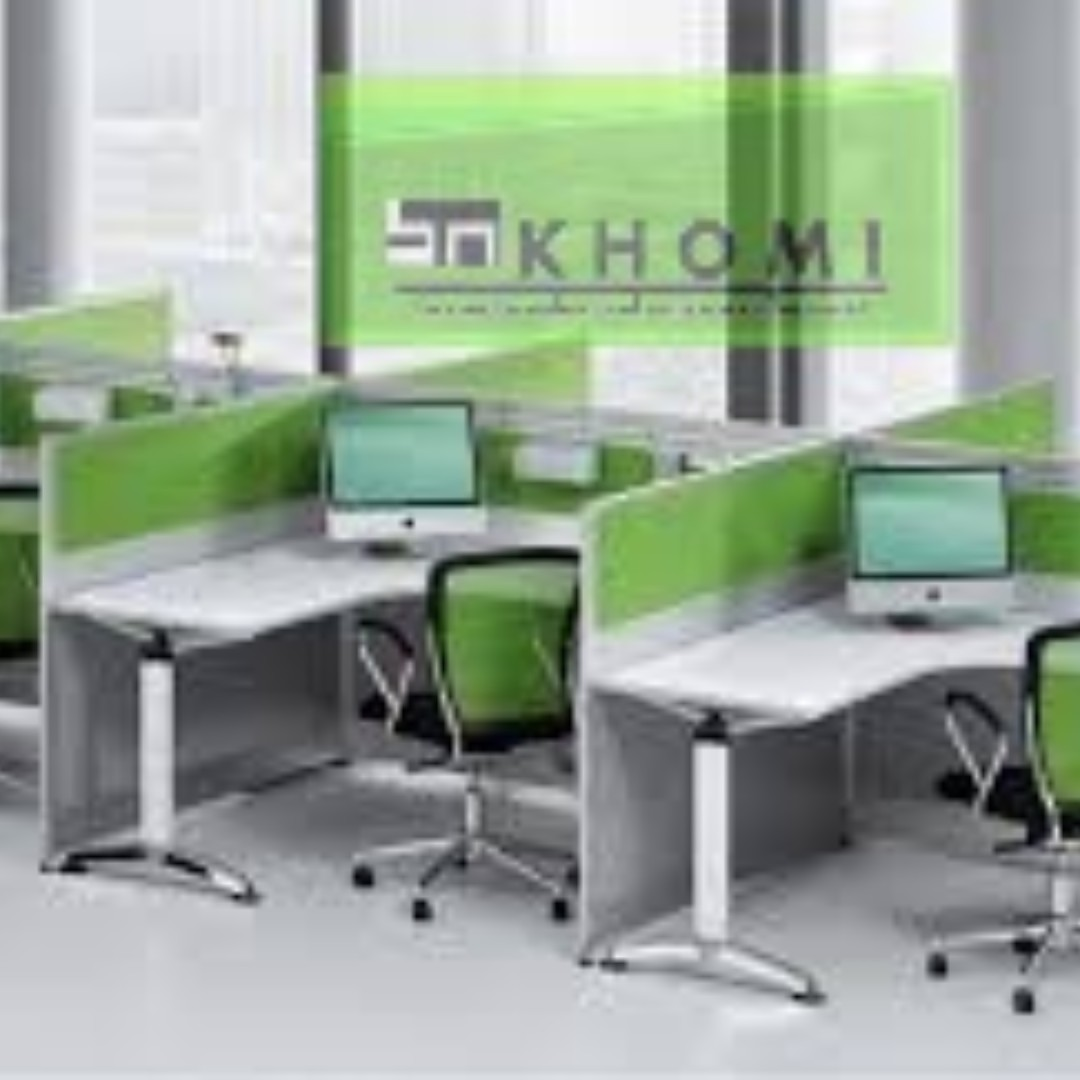 Linear Workstation_Office Cubicle_Office Partition-Furniture **KHOMI**
