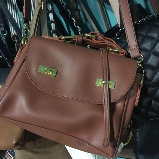 Local Brand Brown Sling Bag