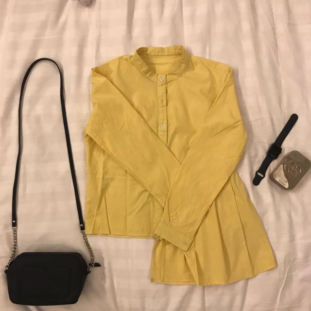 Long Shirt With Yellow Color