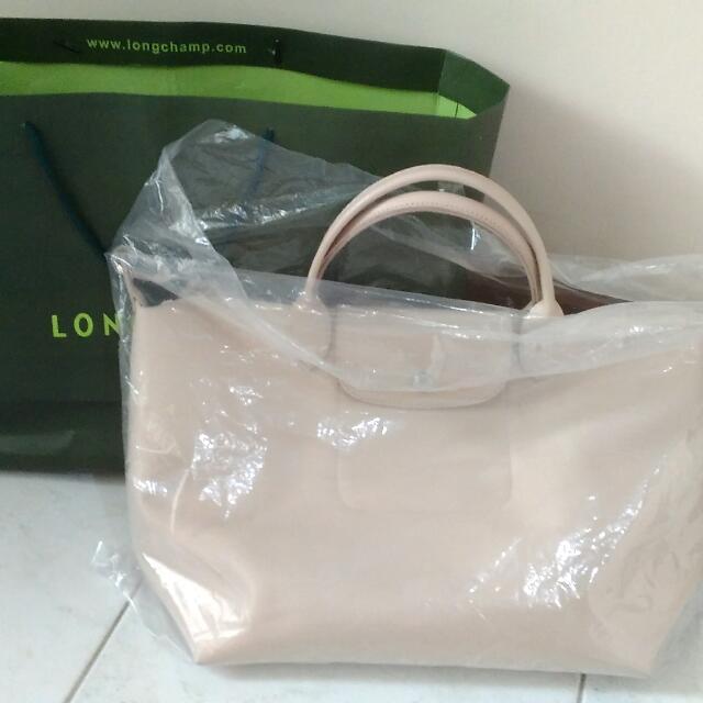 Longchamp Le Pliage Beige Medium Handle