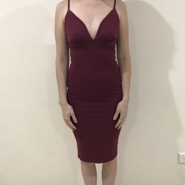 Maroon Dress Size 8