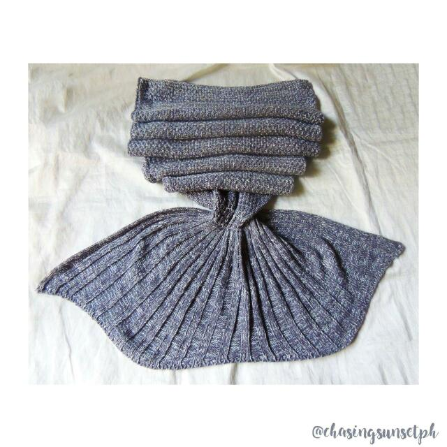 MERMAID TAIL BLANKET - Gray