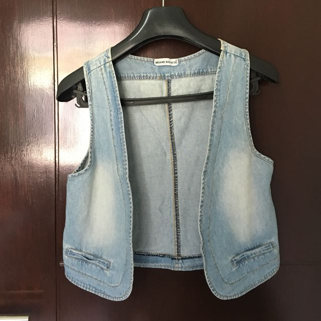 Miami Beach Washed Jeans Vest