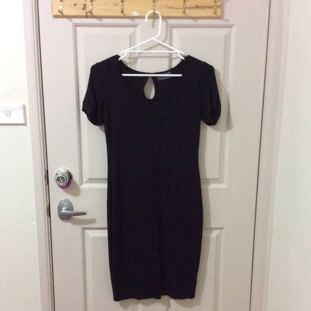 Mirrou Black Body Con Dress