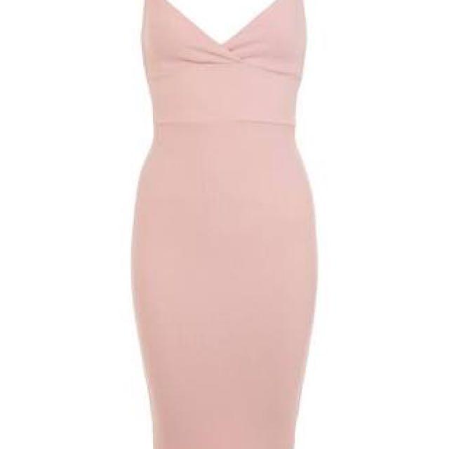 Miss Selfridge Pink Waffle Dress
