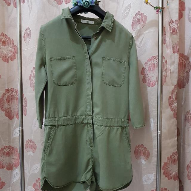 MNG Soft Fabric Jumpsuit-Shorts