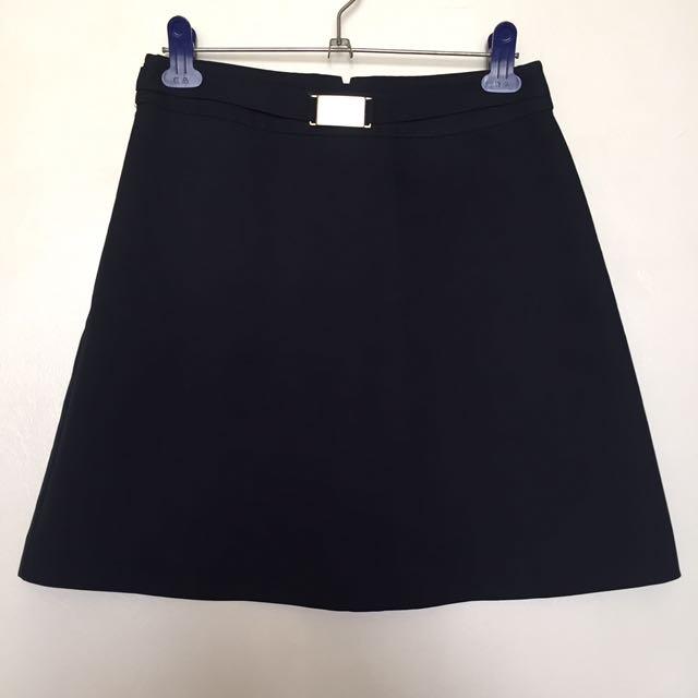 Navy Blue Bucked Skirt