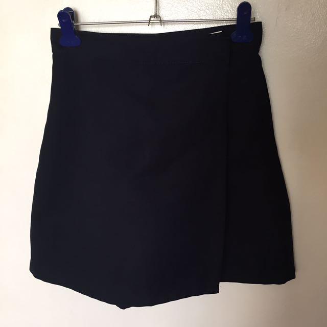 Navy Blue Short Style Skirt