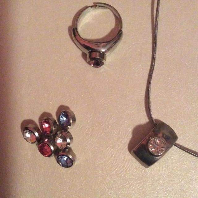 Necklace And Ring Set With Interchangeable G