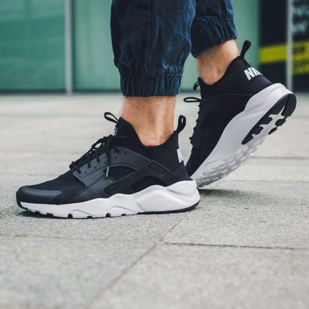 43849e7230fe3 Nike Air Huarache Run Ultra Black   White