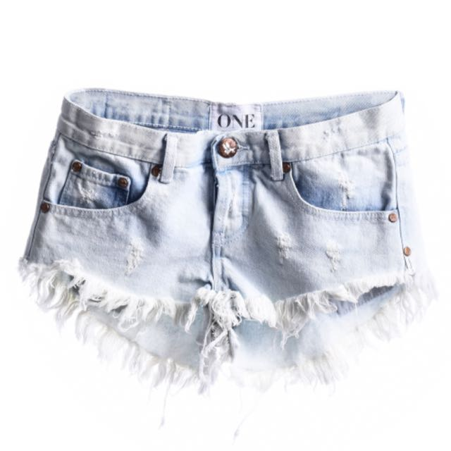 One Teaspoon White Bonitas Shorts