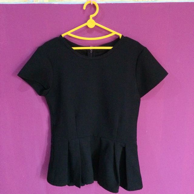 Peplum Black Top
