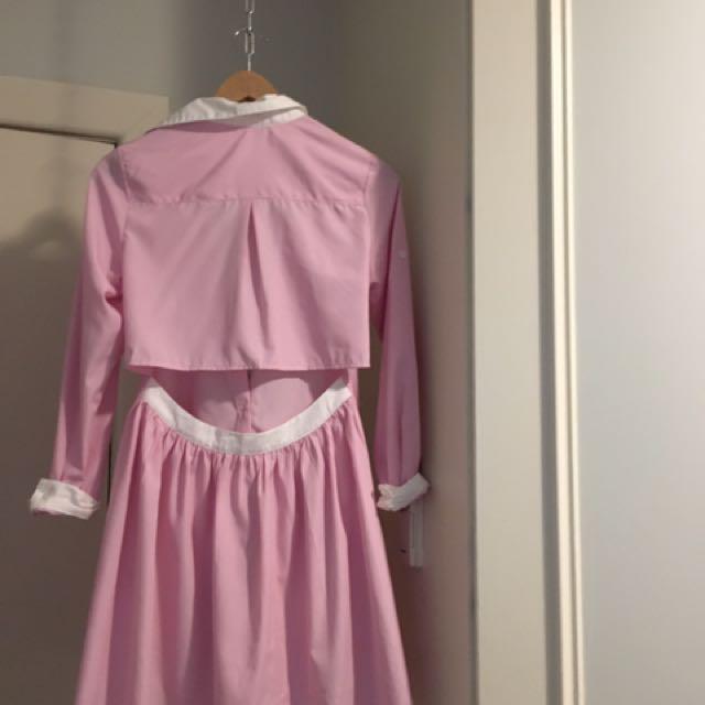 Pink Shirt Dress Size 6