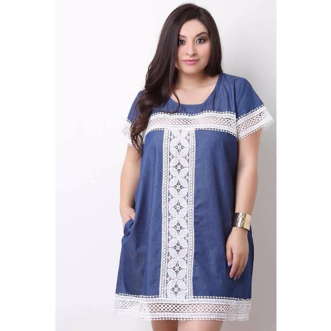 Plus Size Denim Dress RESTOCK!!!