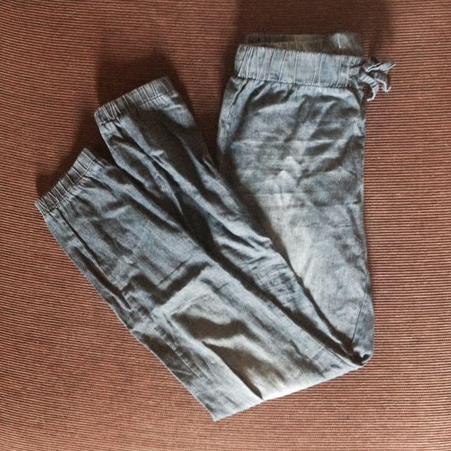 Preloved Denim Jogger Pants
