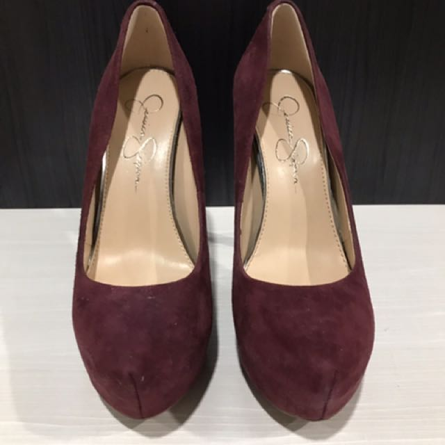 Preloved Jessica Simpson suede heels