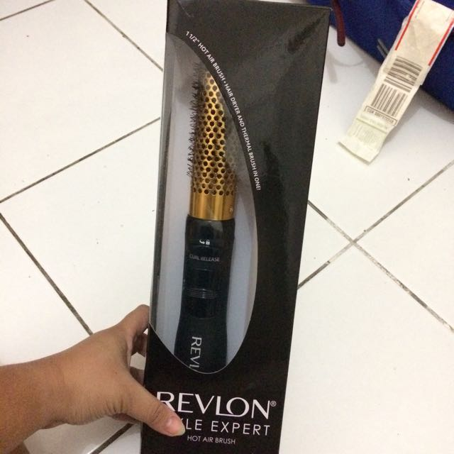 REVLON Style Expert Hot Air Brush Curling Iron Catokan Hair Straightener
