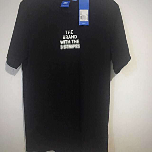 "Sale!! Adidas Originals ""The Brand with the 3 Stripes"" Black T-shirt"