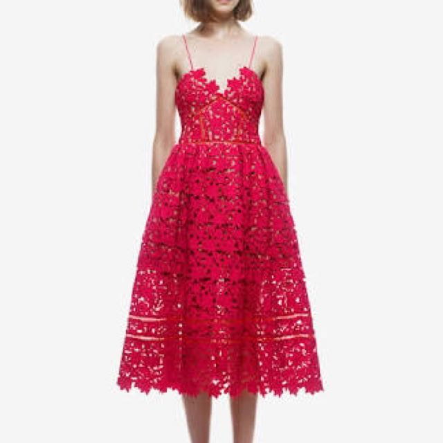 Self Portrait Azaelea Dress Red