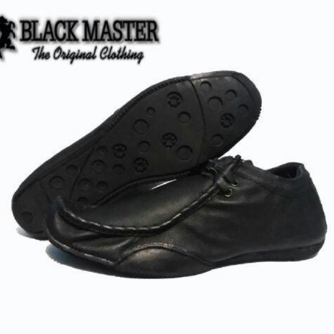 Sepatu Casual Pria Santai Formal Black Master ( Kickers , Timberland )