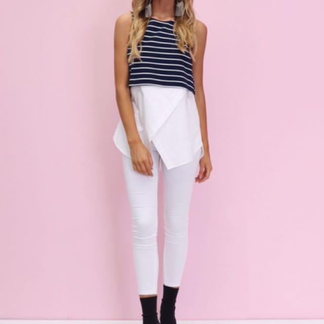 Stripe Top/shirt Combo