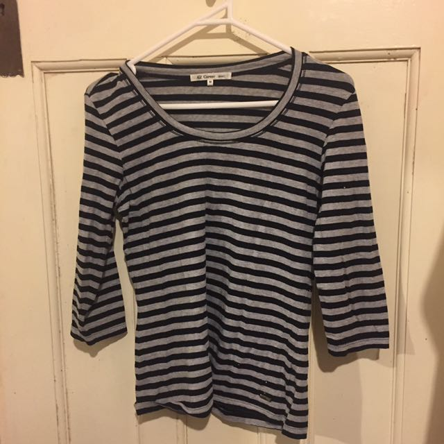 Striped Long Sleeved T Shirt