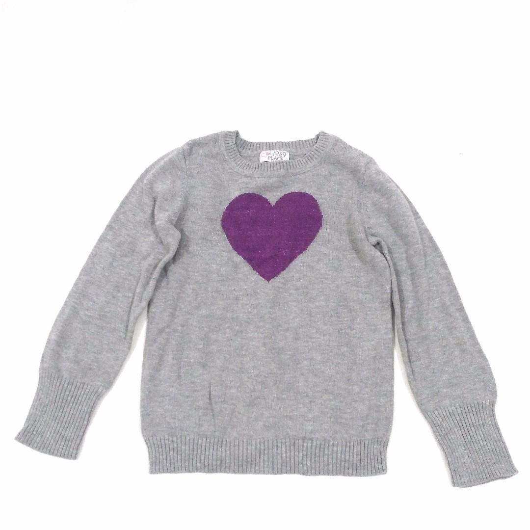 Sweater Rajut Anak Abu Motif Hati Merek Est 1989 PLACE