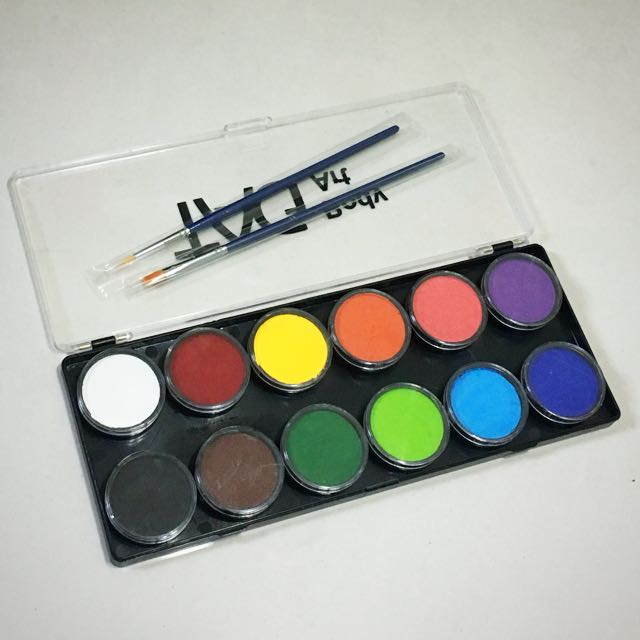 KIT B PROFESSIONAL FACE PAINT PAINTING MAKEUP formely Snazaroo RUBY RED