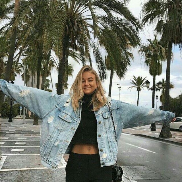 #Take5off Baggy Oversized Jeans Denim Jacket