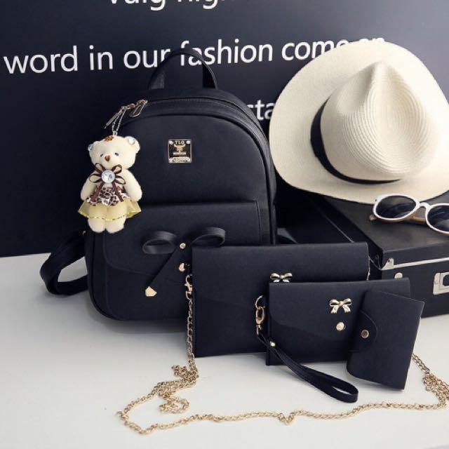 Tas Ransel Gendong Backpack 4 in 1 Tas Fashion Wanita Cewek Code 618 ... c3184b4ae1