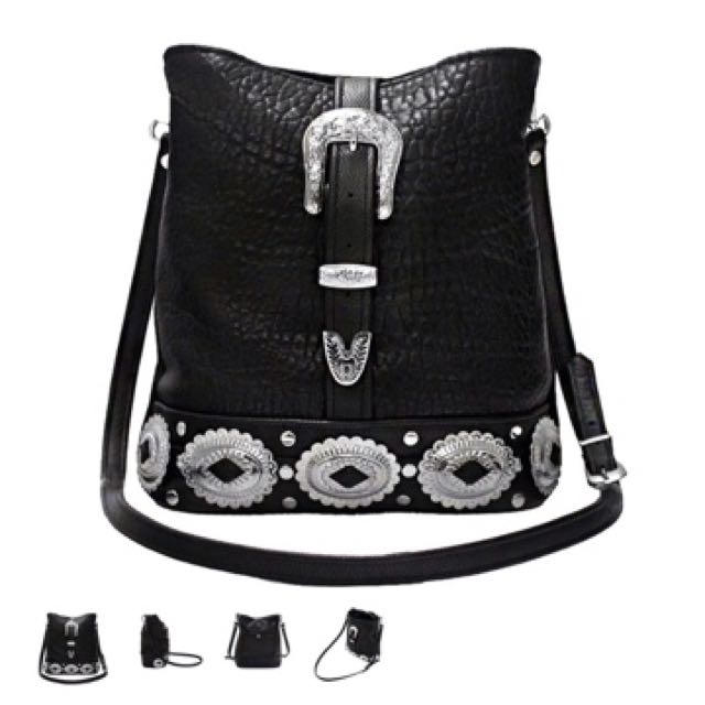 The Lair Genuine Leather Concho Bag