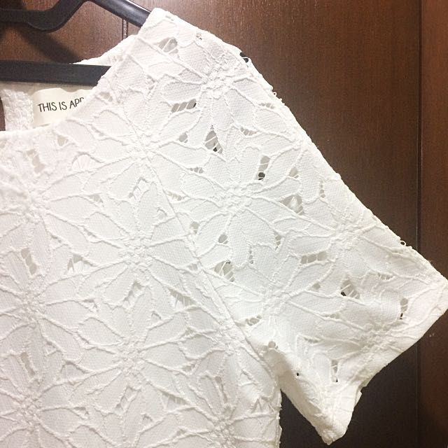 This Is April White Lace Dress