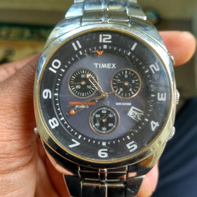 Timex Stainless Steel Jam Tangan Pria