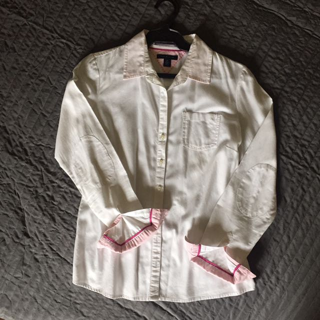 Tommy Hilfiger White Long Sleeves Button Down