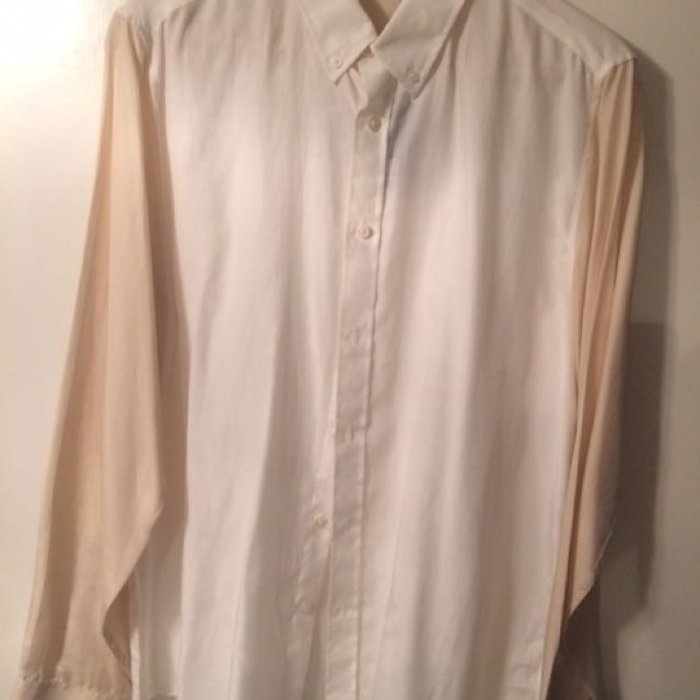 Topman Two Tone Silk Shirt