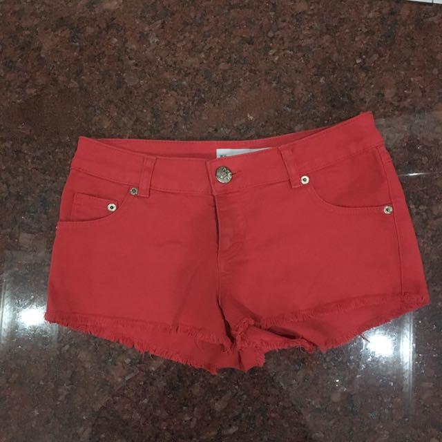 Topshop Red Shorts