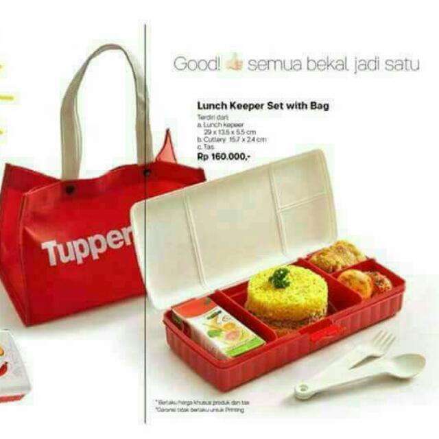Tupperware Lunch keeper + bag