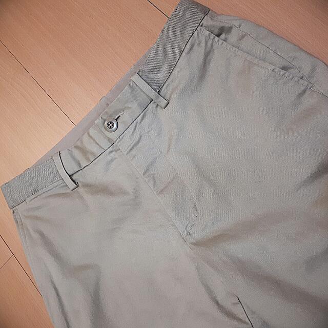 uniqlo 卡其褲 褲頭鬆緊帶 清涼感