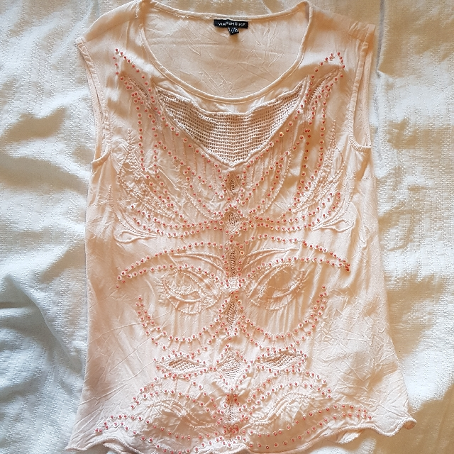 Warehouse Beaded Top Size 6