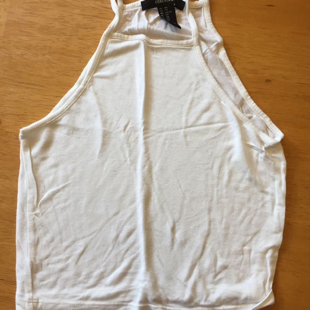 Forever 21 White Cropped Tank